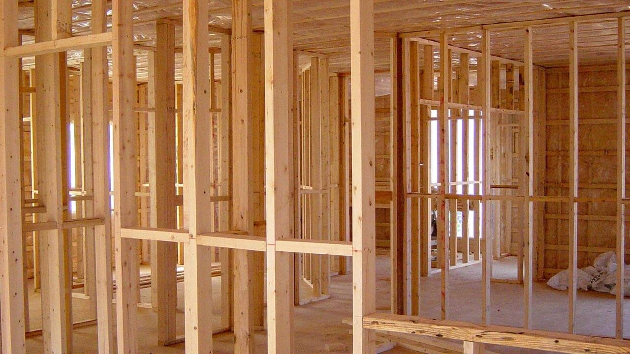 image of formwork when building a house
