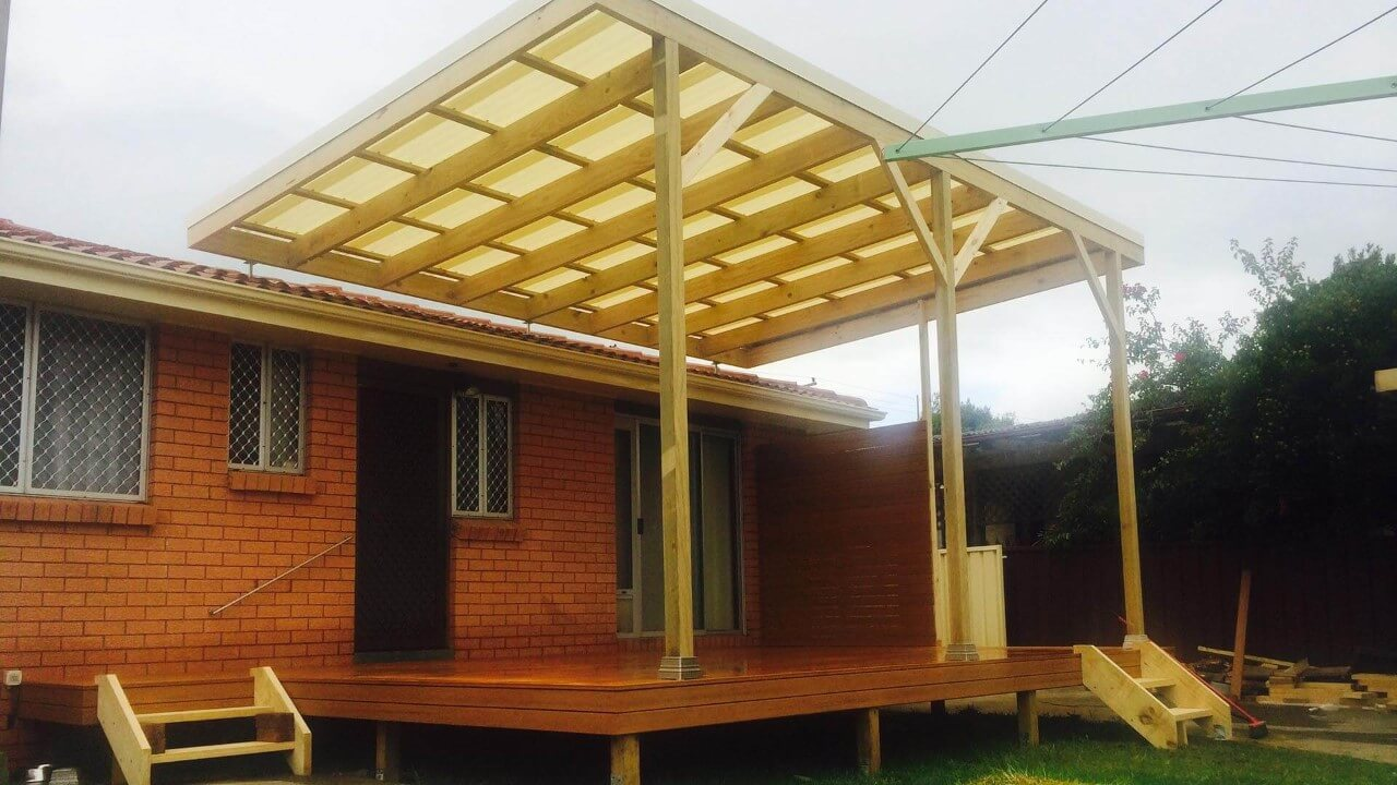 image of a simple deck and pergola
