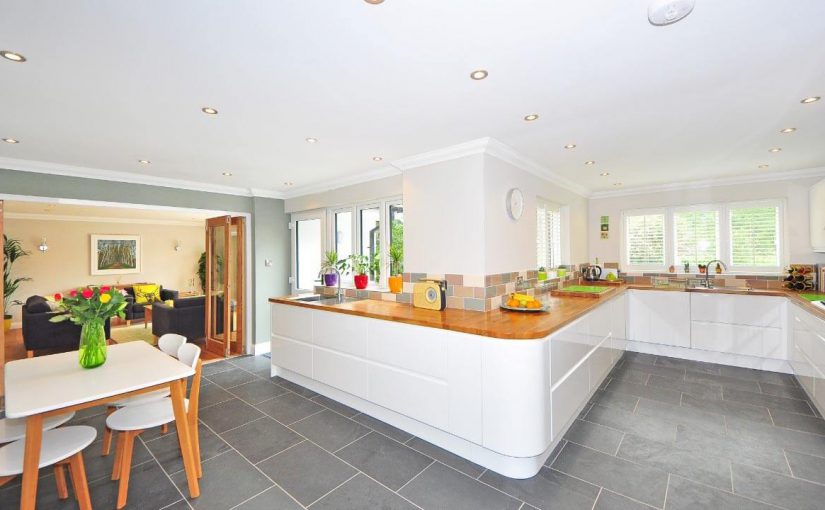 image of a kitchen renovation and dining room extension