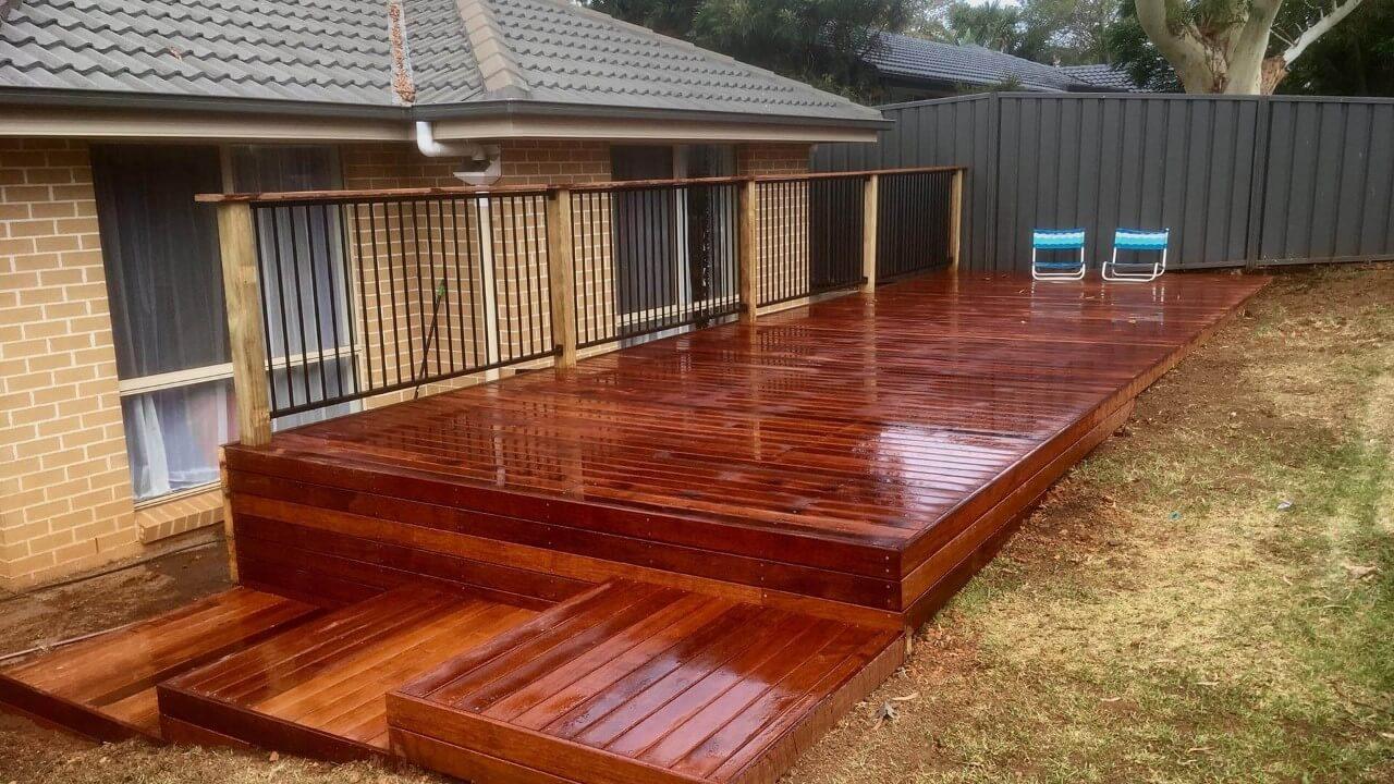 image of backyard decking