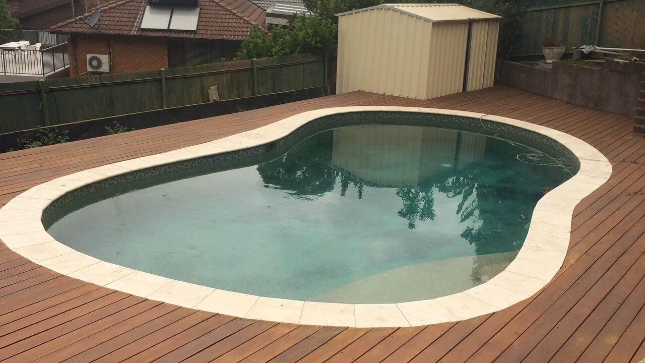 image of a pool deck
