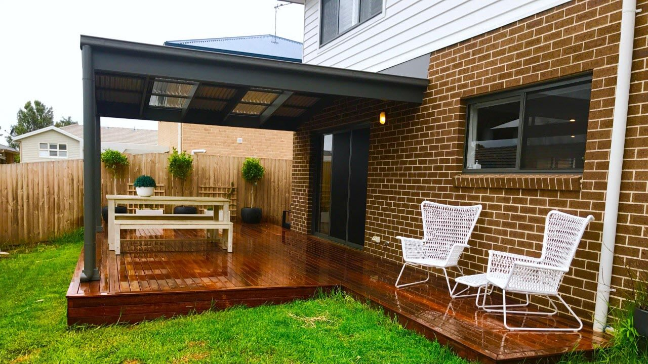 image of a small deck and pergola